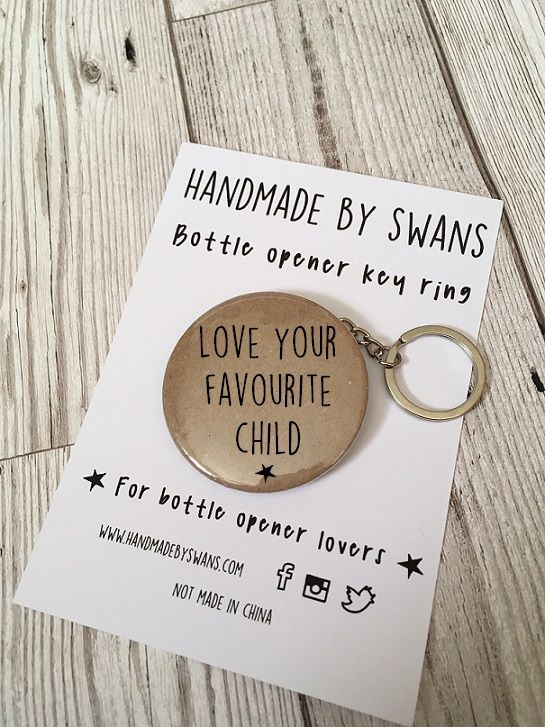 Love your favourite child bottle opener keyring