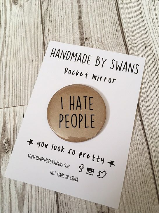 I hate people Pocket Mirror