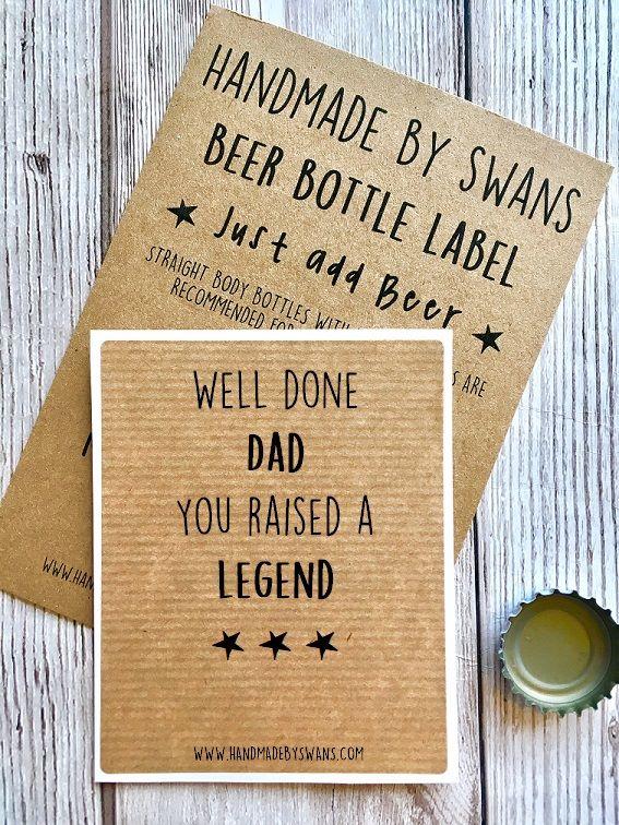 You raised a Legend bottle Label