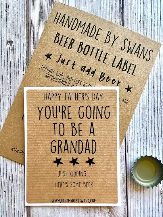 You're going to be a Grandad Beer bottle Label
