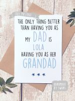 The only thing better than having you as a Dad/Grandad Personalised  Greeting Card