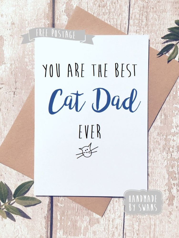 You are the best cat dad ever Father's day Greeting Card