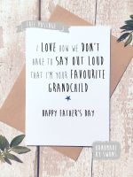 Favourite Grandchild Father's day Greeting Card