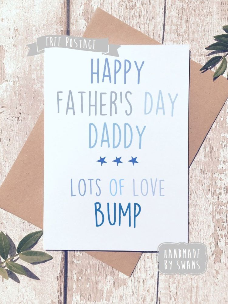 Happy first father's day lots of love bump Father's day Greeting Card