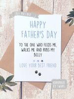 Happy Father's day love from the dog Greeting Card