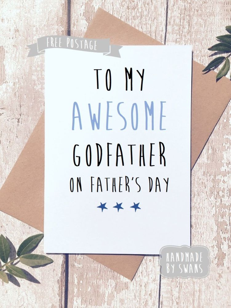 To my awesome Godfather on Father's day Greeting Card