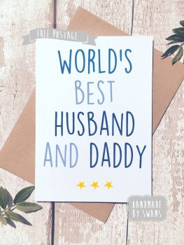 World's best Husband and Daddy Father's day Greeting Card