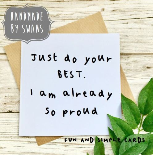 Just do your best motivational good luck square greeting card m4hsunfo