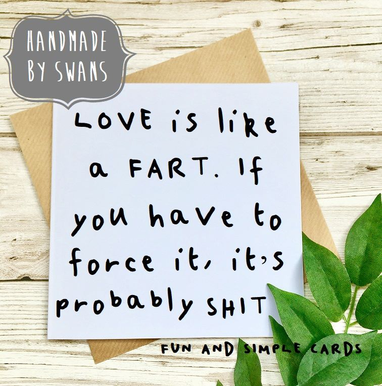 Love is like a fart Square Greeting card