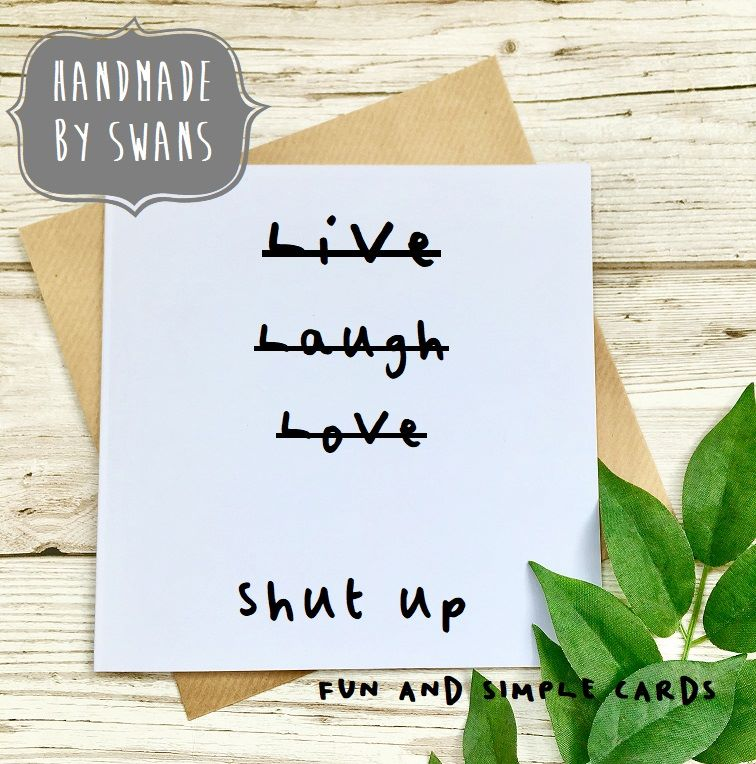 Live laugh love  Square Greeting card