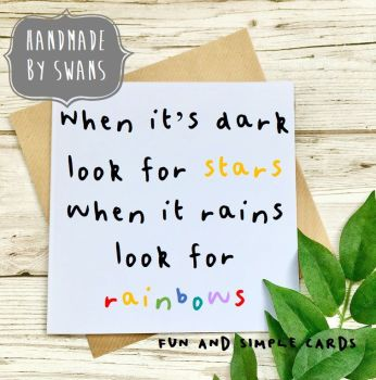 When it rains look for rainbows Square Greeting card