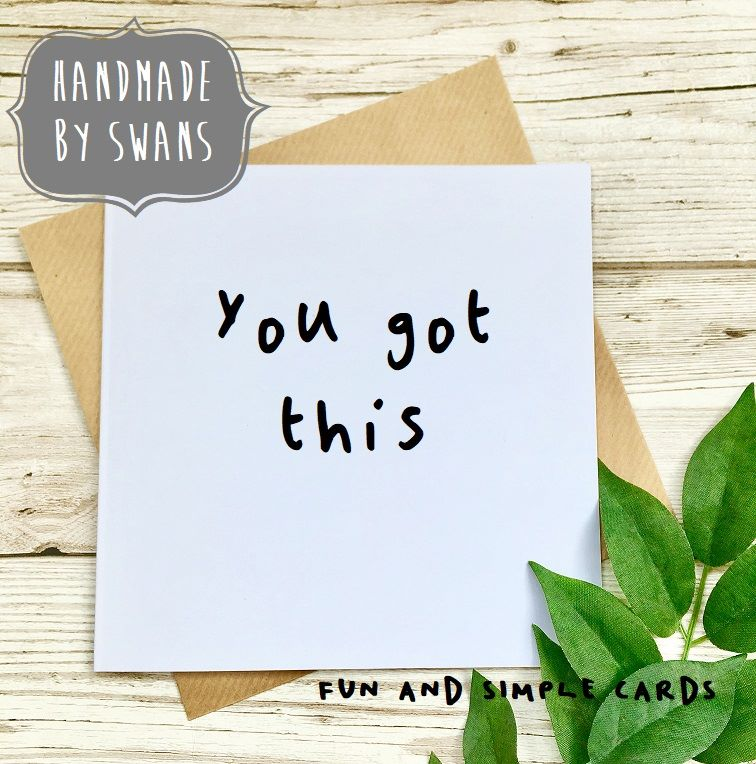 You got this Square Greeting card