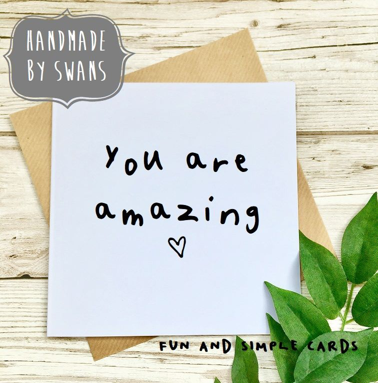 You are amazing Square Greeting card
