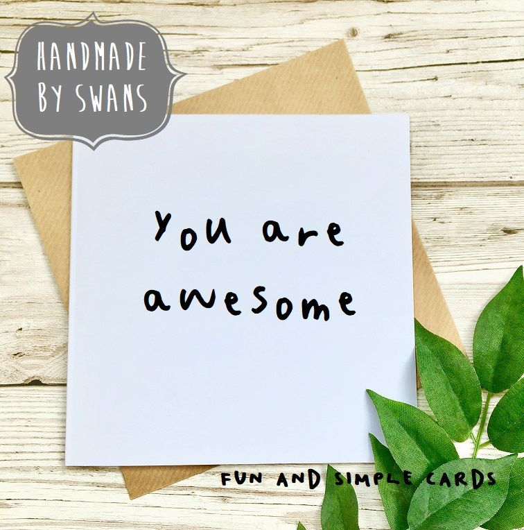 You are awesome Square Greeting card