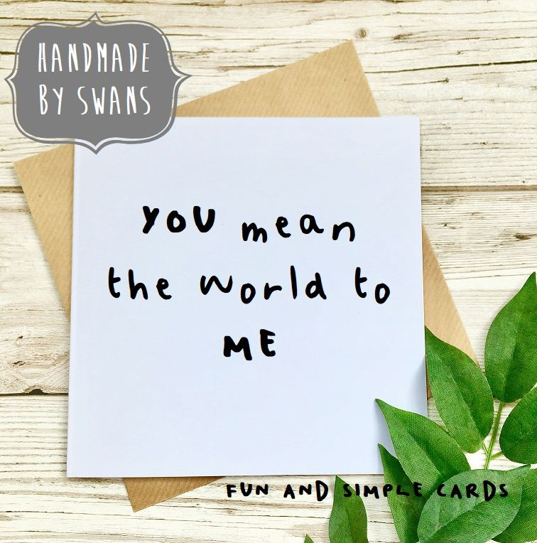 You mean the world to me Square Greeting card