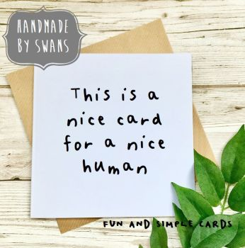 This is a nice card Square Greeting card