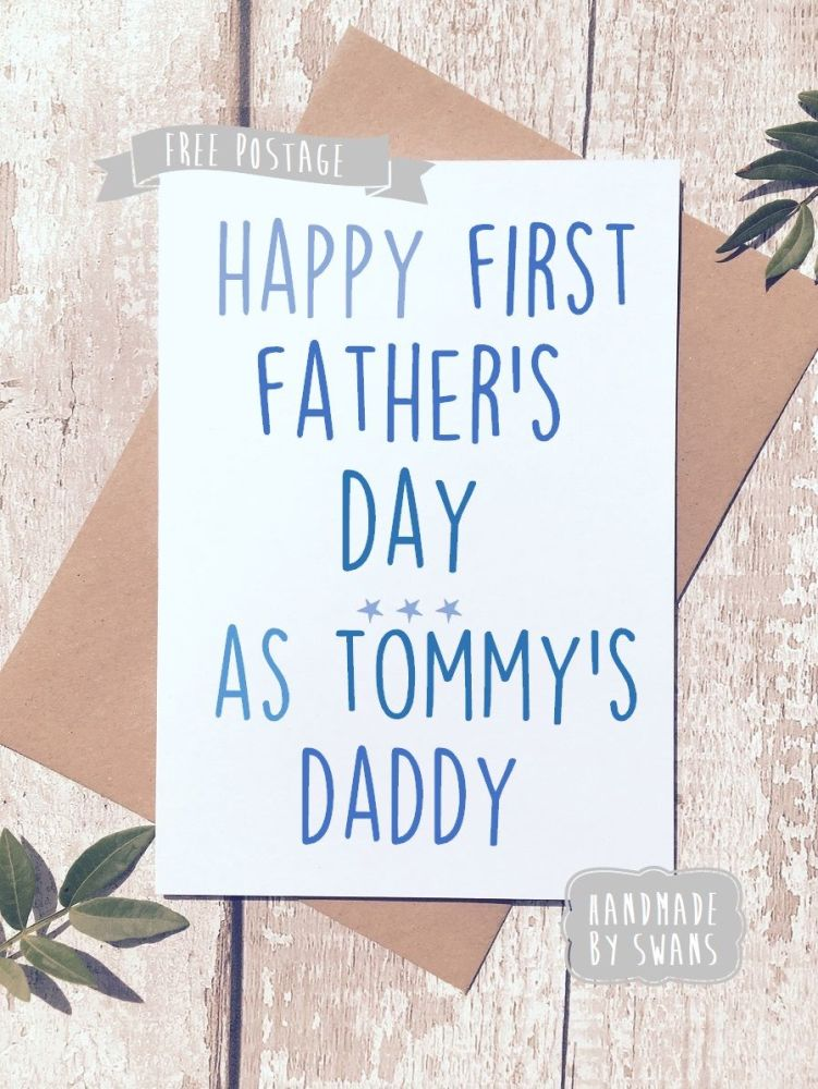 First Father's day as daddy Personalised Father's day Greeting Card
