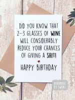 Did you know 2-3 Glasses of wine Happy Birthday Greeting Card