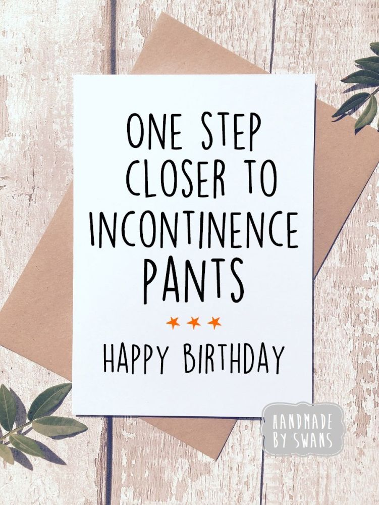 Happy Birthday Incontinence Pants Greeting Cards