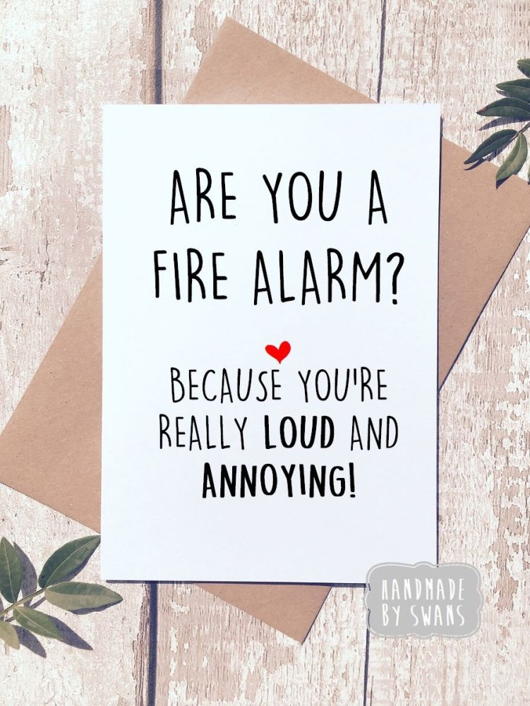 Fire Alarm Greeting card