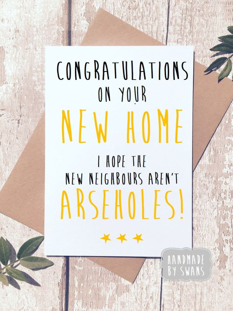 New Home New Neighbours Greeting card