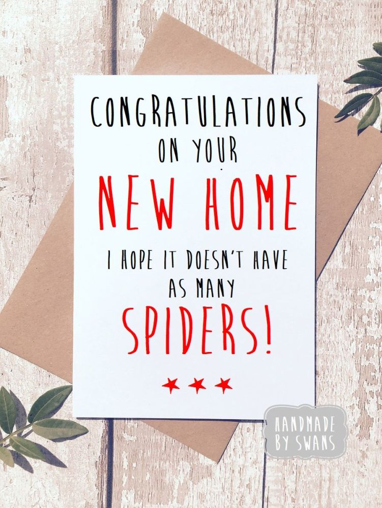 New Home no Spiders Greeting Card