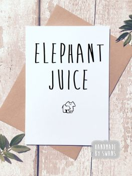 Elephant Juice (i love you) Greeting Card