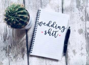 Wedding shit notebook