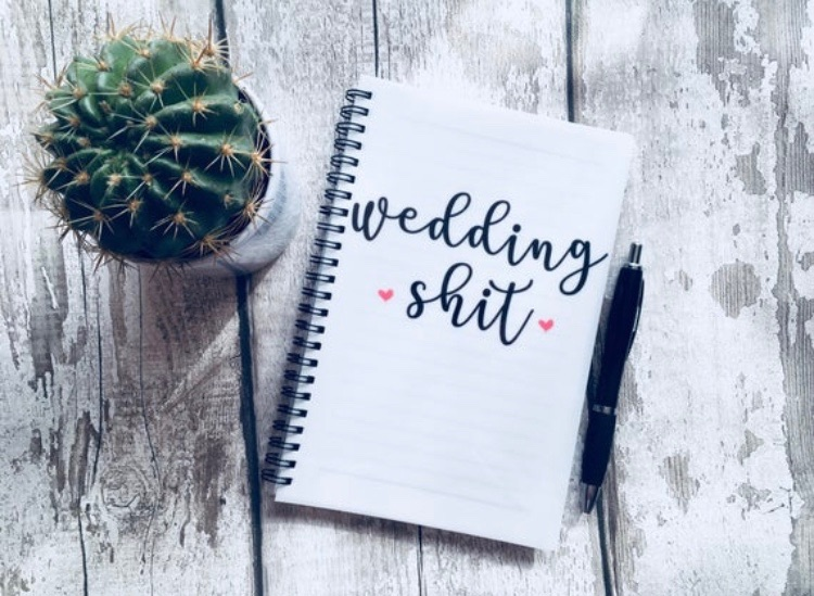 Wedding shit notebook