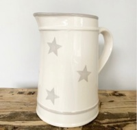 Grey Star Ceramic Jug