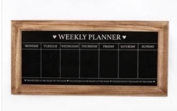 Wooden Chalkboard planner