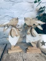 Two Wooden rabbit decoration (Mix)
