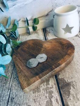 Wooden heart Plate