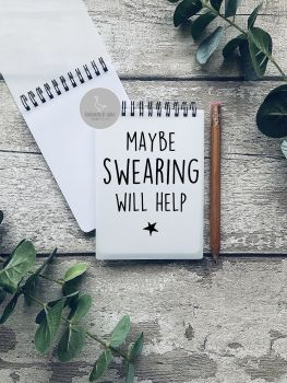 Maybe swearing will help A6Notebook