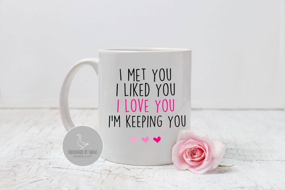 I met you, i liked you mug