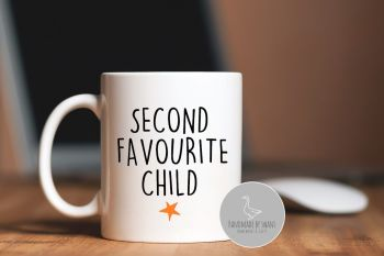 Second favourite child mug