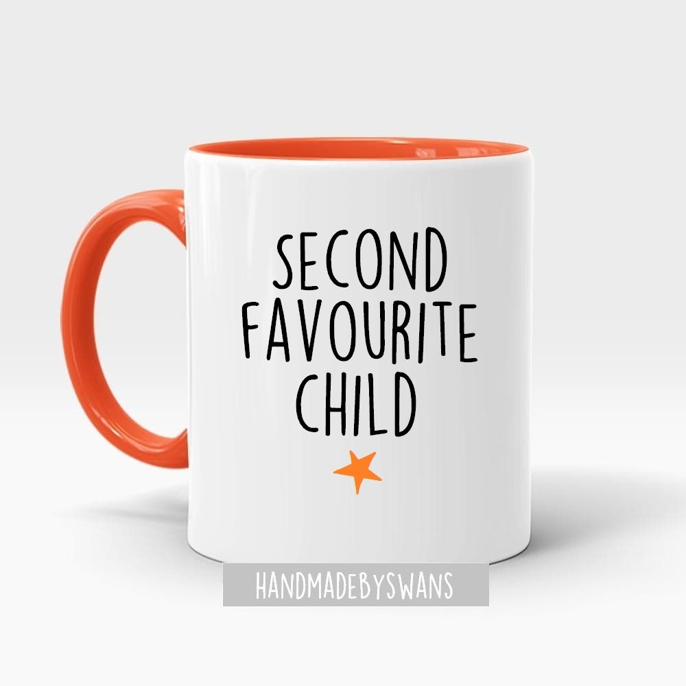 Second favourite child Orange inner mug