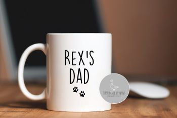 Personalised Dog Dad or Dog Mum mug