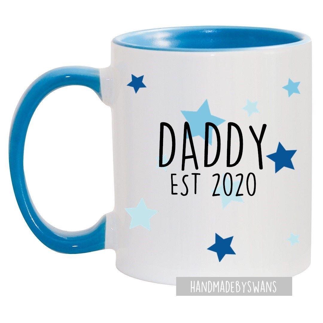 Daddy Est blue handle mug