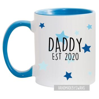 Daddy Est blue handle mug