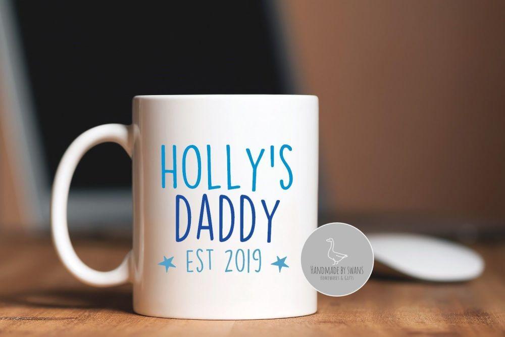 Personalised Dad Est mug