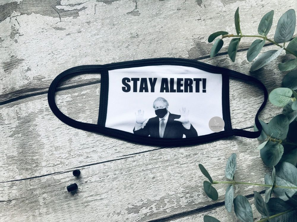 Stay Alert Boris Facemask