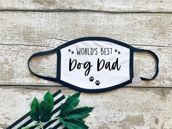 World's best dog dad face mask