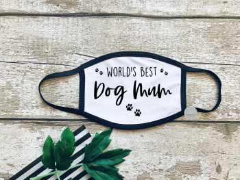 World's best dog mum face mask