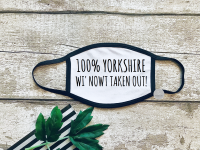 100% yorkshire face mask