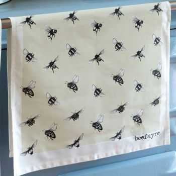 Bee Print Tea Towel
