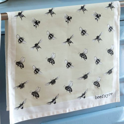 Beefayre Bee Print Tea Towel