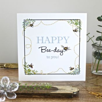 Card - Happy Bee-Day