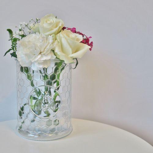 Honeycomb Glass Jar/Vase