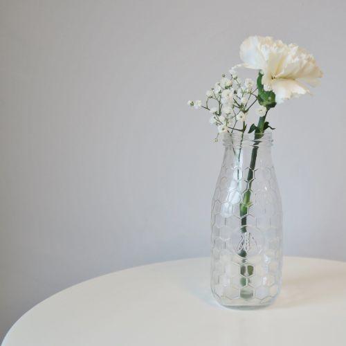 Honeycomb Glass Bottle